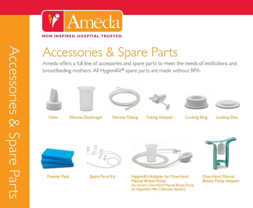 Replacement Parts For Ameda T