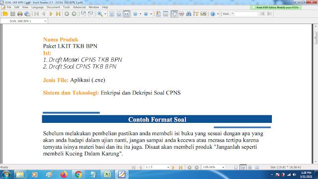 Download contoh soal pppk skb bpn1 dan kunci jawaban
