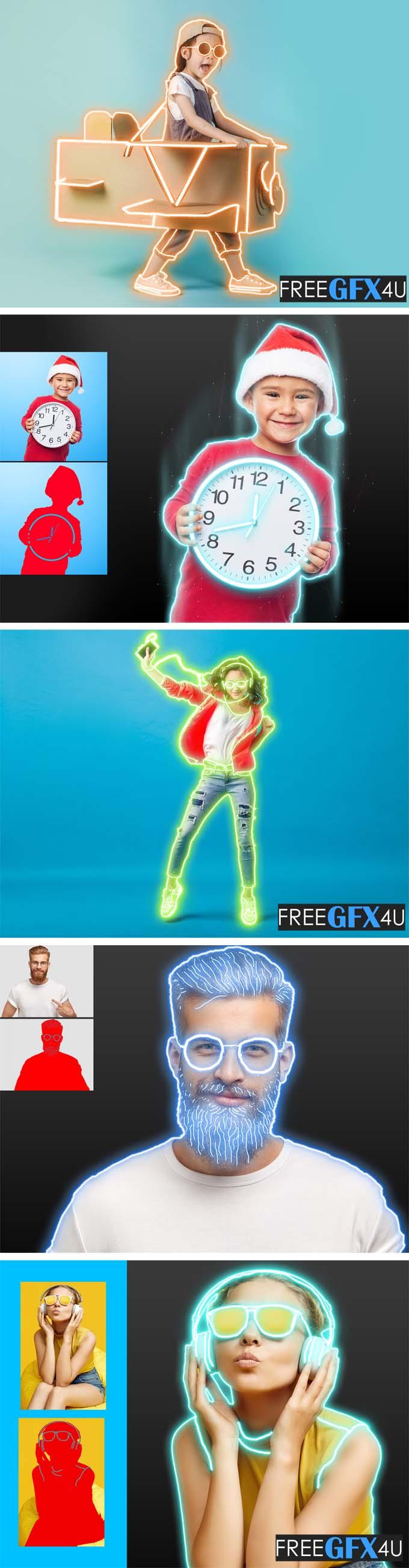 Neon Maker Photoshop Action