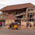 CONSTRUCTION WORKERS ESCAPE DEATH AS BUILDING ALLEGEDLY BELONGING TO ENUGU STATE SPEAKER, HOUSE OF ASSEMBLY COLLAPSE