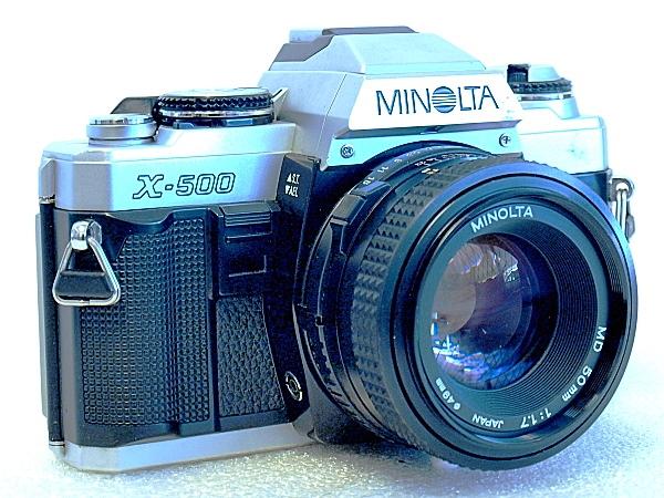 Minolta X-500, Front left