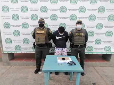 hoyennoticia.com, Preso por hacer disparos al aire en Colombia Libre