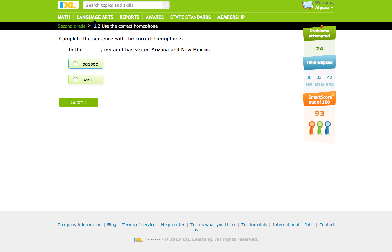 A Learning Journey Schoolhouse Review Ixl Online