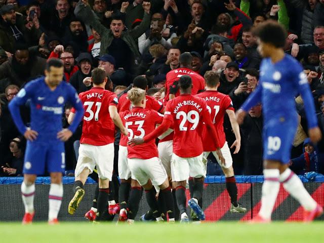 Video Cuplikan Gol: Chelsea 0-2 Manchester United (Premier League)