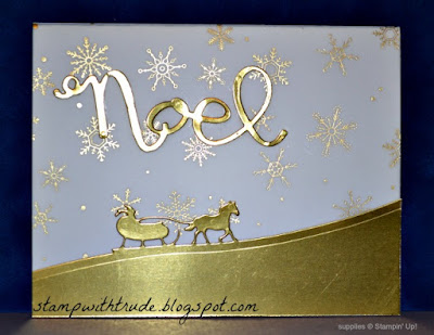 Sleigh Ride, Stampin' Up!, Stamp With Trude, Winter Wonderland vellum, Tuesday Tutorial