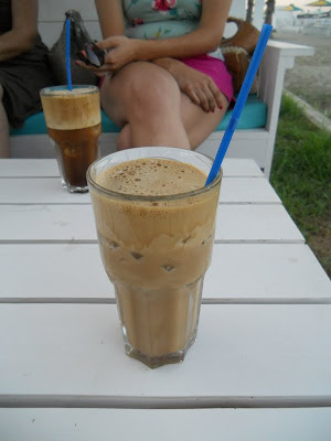 One week in Cyprus road trip: our first frappe near Larnaca