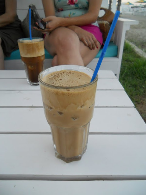 One week in Cyprus: our first frappe near Larnaca