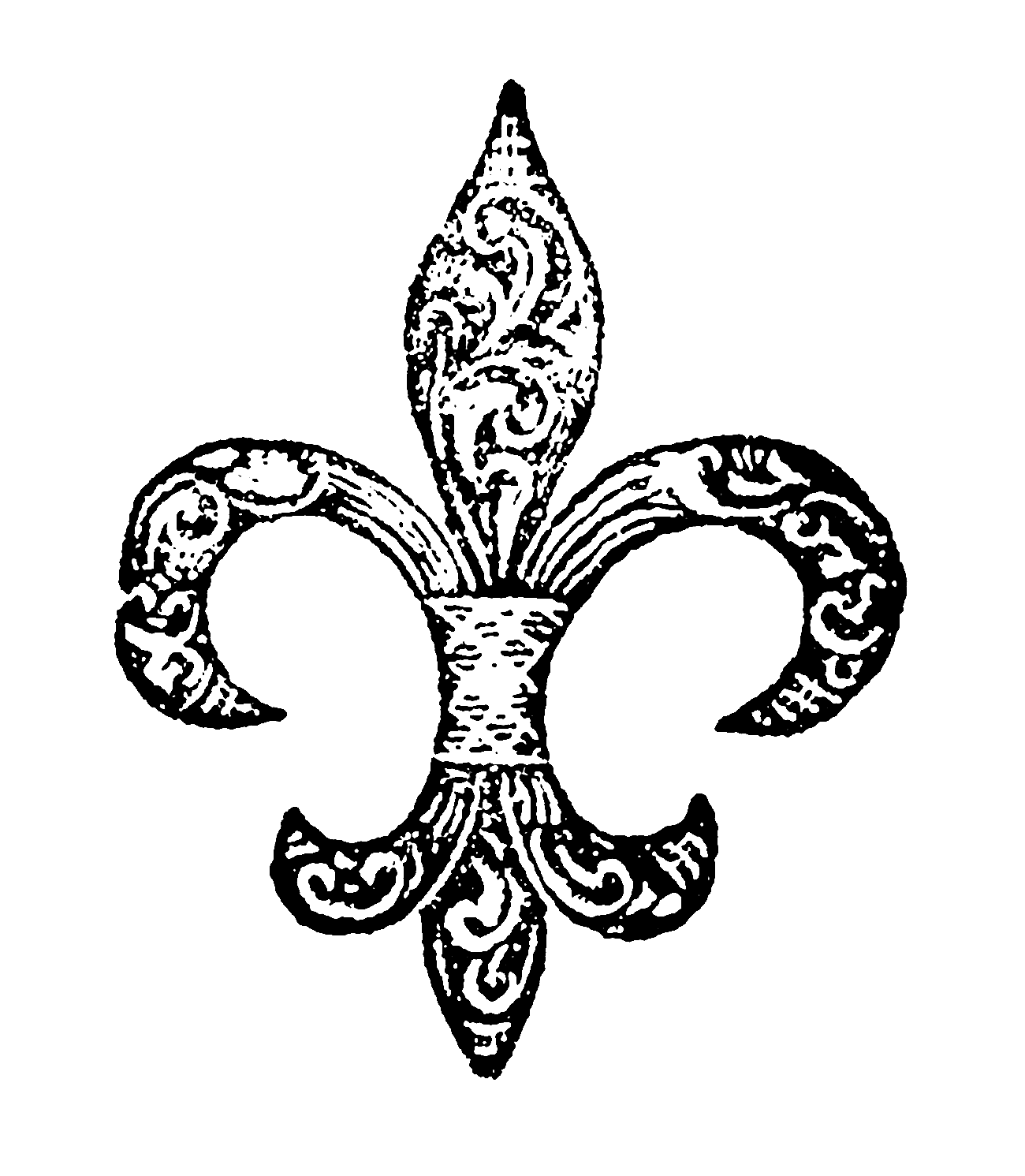digital stamp design free digital fleur de lis download. Black Bedroom Furniture Sets. Home Design Ideas