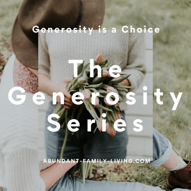 Generosity is a Choice