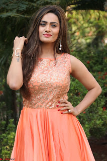 Actress Sakshi in beautiful orange Anarkali Dress Spicy Pics    034.jpg