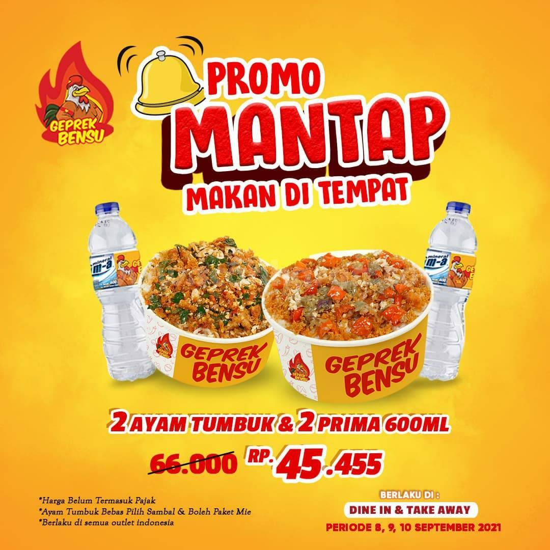 GEPREK BENSU Promo MANTAP Makan Di Tempat mulai Rp. 45.455