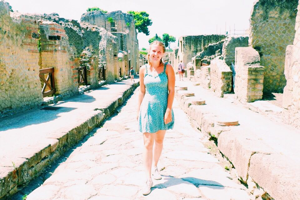 Me in a street of Herculaneum