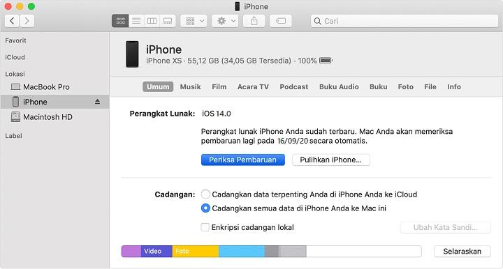 Cara Install iOS 14