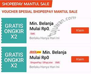 Voucher SMS Shopee Adalah Gratis Ongkir Buat Belanja di Shopee