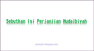 isi perjanjian hudaibiyah
