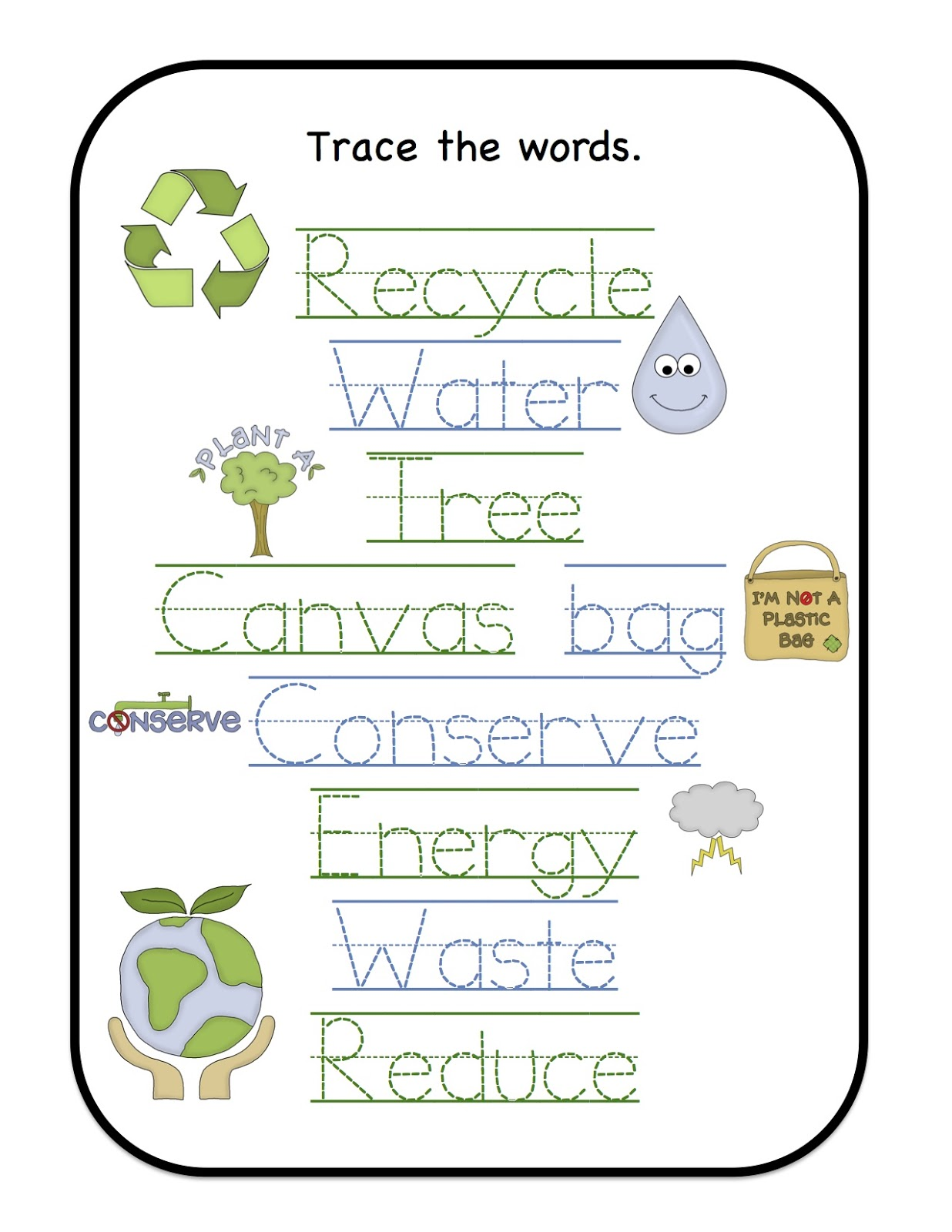 Earth Day Printable Preschool Printables