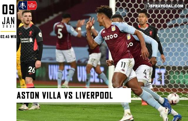 Prediksi Skor Aston Villa Vs Liverpool Sabtu 9 Januari 2021