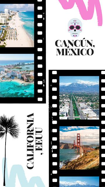 Cancún, México y California, EEUU