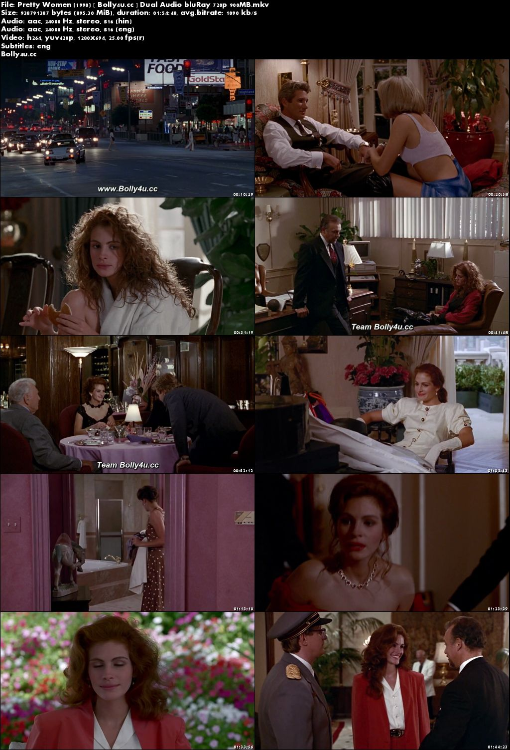 Pretty Woman 1990 BluRay 350MB Hindi Dual Audio 480p Download