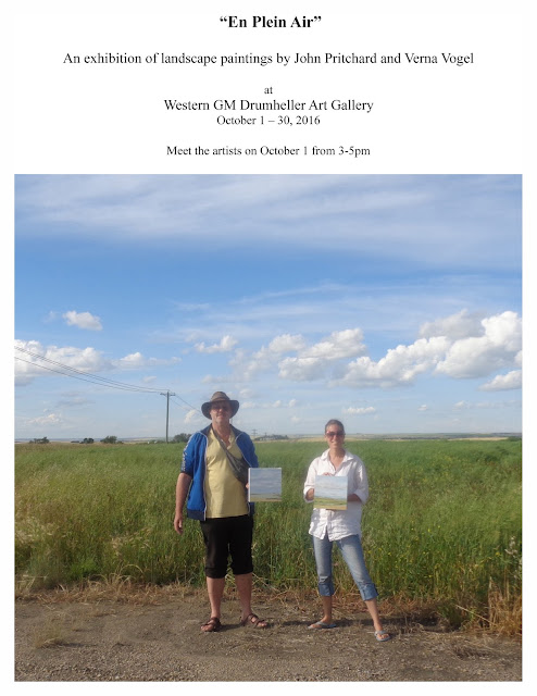 landscape painting exhibition at Western GN Gallery in Drumheller, October 2016