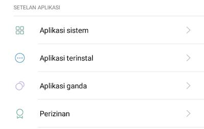 pilih aplikasi terinstal