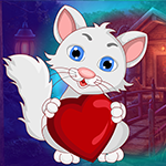 Games4King Lovely Heart Cat Escape
