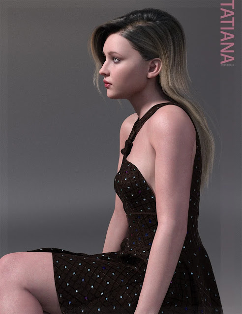 Tatiana HD and Expression for Genesis 8 Female