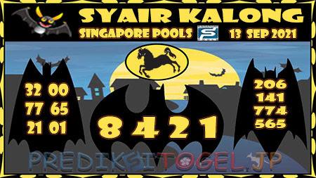 Syair Kalong Togel Singapura Senin 13-09-2021