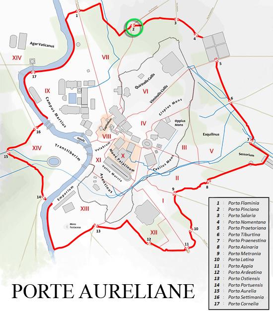 PORTA PINCIANA (Porte Aureliane)