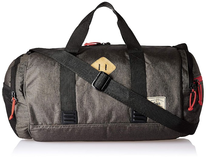 Rs,449/- GEAR Polyester 48 cms Grey and Black Classic Duffle (DUFCLASIC0401)