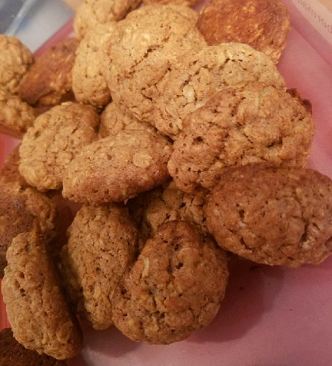 healthy recipe for oatmeal cookie from the book Sly Moves and inspired by the movie Rocky 3