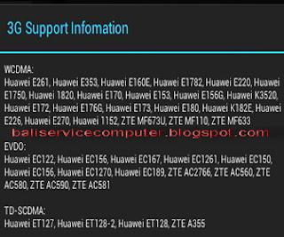 modem internet untuk tablet android