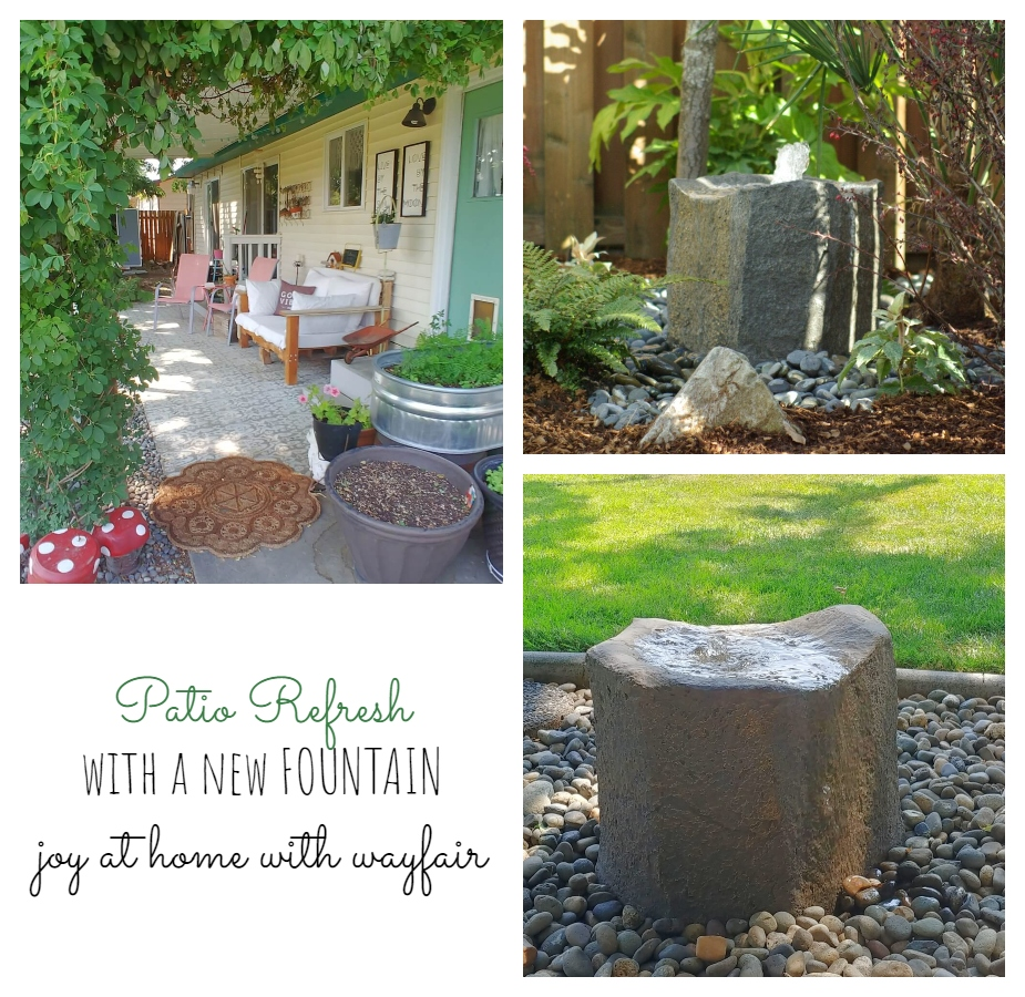 Patio Refresh with a new Fountain