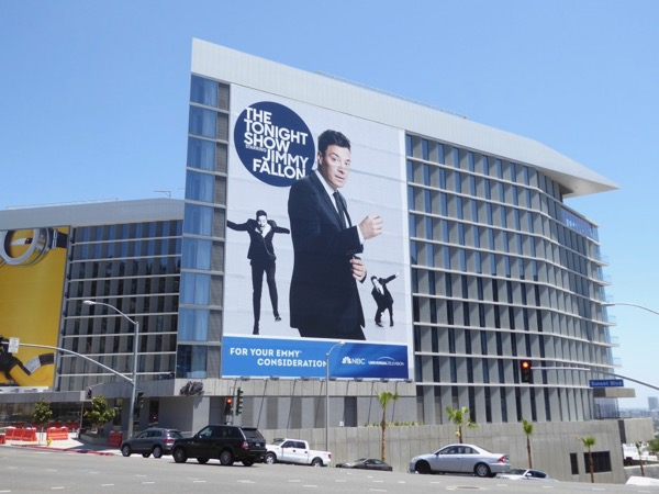 Giant Jimmy Fallon 2017 Emmy FYC billboard Sunset Strip