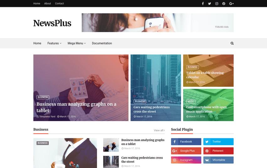 Newsplus Blog Magazine Blogger Template, Newsplus ,Blogger Template