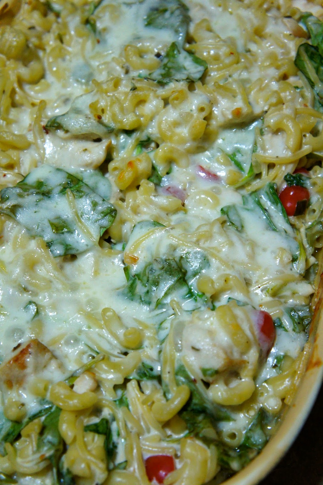 Chicken and Spinach Pasta Bake: Savory Sweet and Satsifying