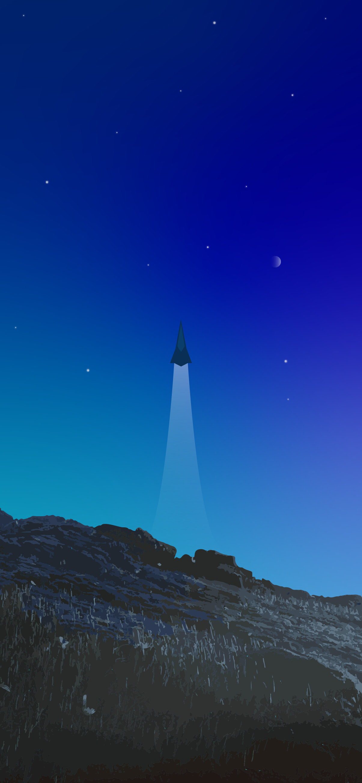 MINIMALIST WALLPAPER IPHONE 4K ROCKET LAUNCH