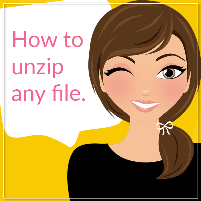 How to Unzip Any File, Lovelytocu.com