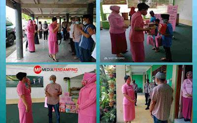 Ketua PD Bhayangkari Sumut Ny Rita Panca Putra Kunjungi Panti Asuhan Darul Aitam Aceh Sepakat