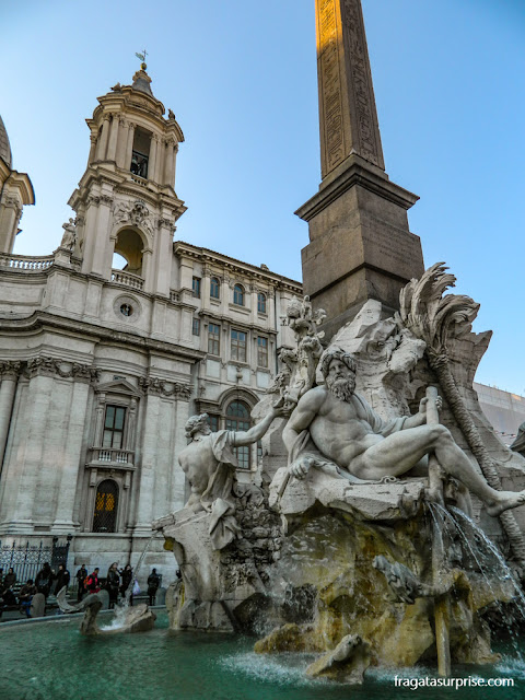 Piazza Navona, Fontana dei Quattro Fiumi (dos quatro rios), Roma