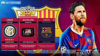 طريقة تحميل لعبة دريم ليج سوكر 2020 dream league soccer بمود فريق برشلونة