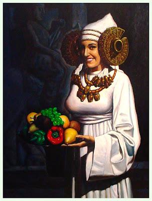 Mi Antigua Dama  ** Óleo sobre tabla 100x81 cm.