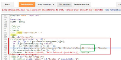 solusi error parsing xml delimiter