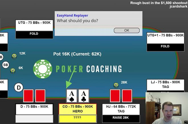 World Series of Poker simple call to preflop raise  ~ Lucky 777 Poker