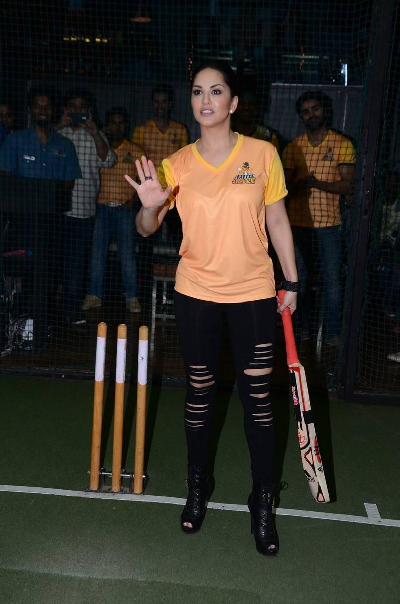 Sunny Leone Photos In Yellow Dress