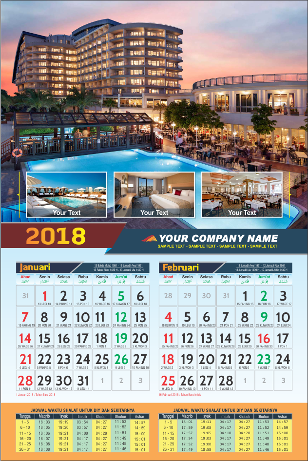 Contoh Desain Kalender Poster - Gambaran