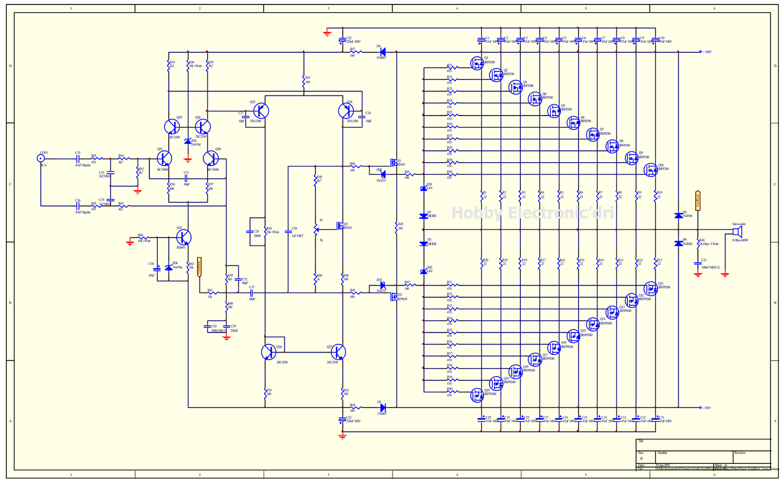 Professional Audio Amplifier Circuit Diagram - Circuit Diagram Images