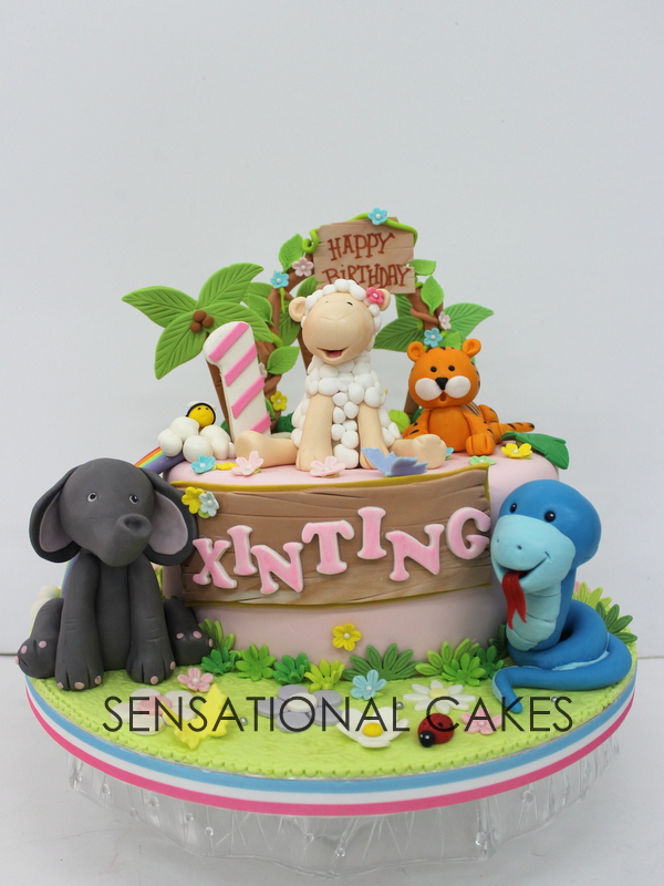 The Sensational Cakes animals theme children cake singapore