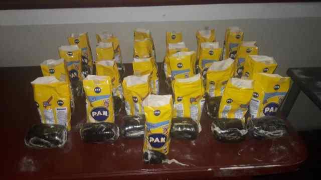 11 kilos de Marihuana en paquetes de Harina Pan en Barinas