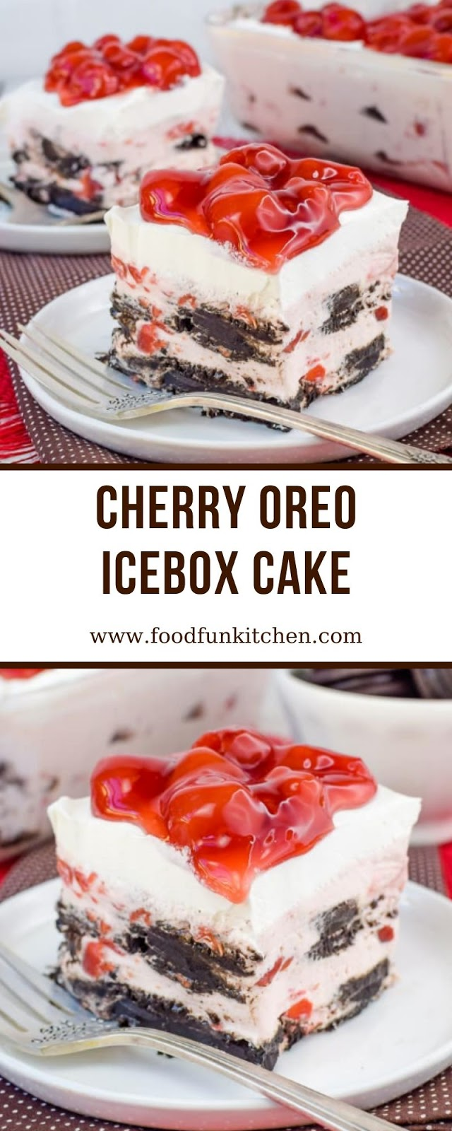 CHERRY OREO ICEBOX CAKE